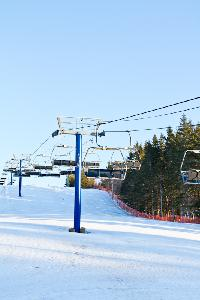 The front lawn at brookvale ski park sits awaiting skiers