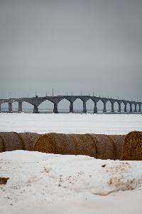 The Confederation Bridge during the Winter months