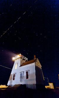This lighthouse is situated in what this writer believes is called Anglo Rustico which is 2 minutes East of North Rustico.
