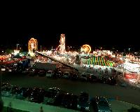 Old Home Week includes a carnival at the Red Shores Raceway and Casino. This shot is taken on top Red Shores of the carnival.