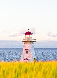 This Cape Tryon lighthouse sits waiting to assist any boaters